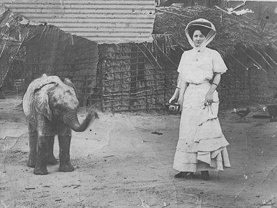 Louise_Kazamias_with_baby_Elephant